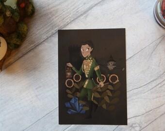 Fiyero Tiggular (Oz/Wicked) art print postcard