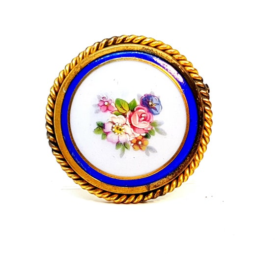 Vintage Brooch/Limoges Brooch/French Brooch. Limog