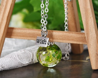 Hand Crafted, Resin Necklace - Babysbreath, Resin Necklace, Unique Design, Gift For Girlfriend