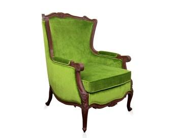 Bordeaux carved arm chair