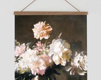 Peony wall art,  Pink peonies flowers, pink flower painting, pink flower wall art, Vintage floral wall art, peony flower art, pink peony art