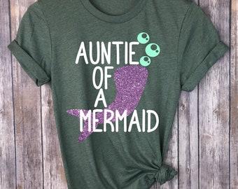 787fd7e11 Mermaid Svg - Mermaid Cutting File - Auntie Svg - Mermaid Dxf Png -  Silhouette And Cricut Mermaid File - Auntie Shirt Svg - Mermaid Cricut