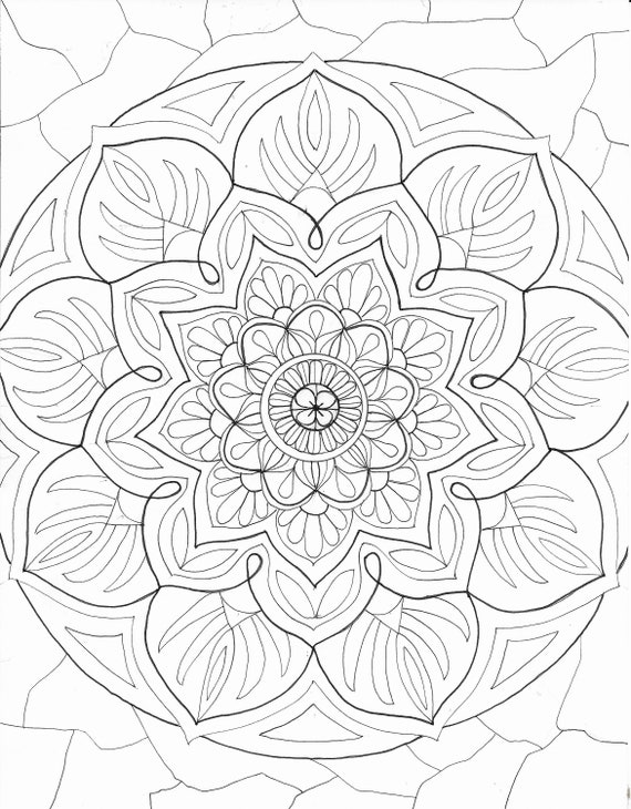 8 Fun Coloring pages Mandals swirly designs  Bonus Etsy