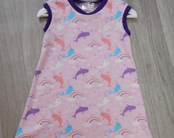 Pink Narwhals Dress