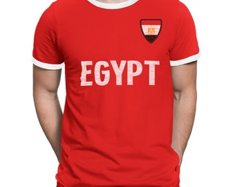 f2706b0c2 Mens EGYPT Country Name and Badge T-Shirt Football World Cup 2018 Sports