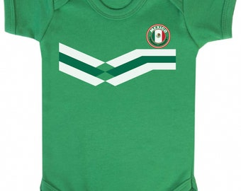 f42b94f83 MEXICO World Cup 2018 BABYGROW FOOTBALL New Style Retro