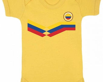 d5eb308c6 COLOMBIA World Cup 2018 BABYGROW FOOTBALL New Style Retro