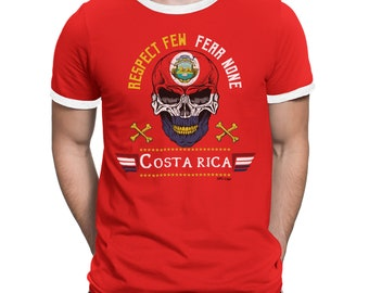 ef660d8d863 COSTA RICA Respect Few Fear None Mens T-Shirt FOOTBALL World Cup 2018 Mans  Sports Top