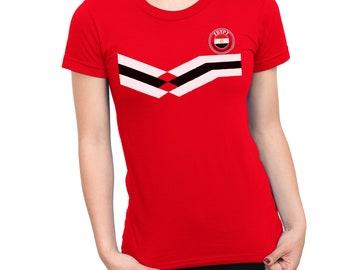 d557e338c EGYPT World Cup 2018 Mens T-Shirt FOOTBALL V Team Emblem Strip