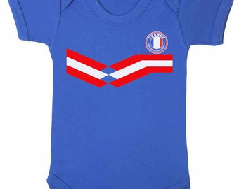 0e7972229 FRANCE World Cup 2018 BABYGROW FOOTBALL New Style Retro