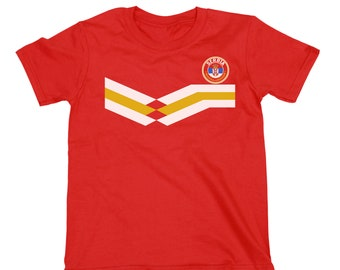 6a2f7cffc SERBIA World Cup 2018 KIDS Unisex T-Shirt FOOTBALL New Style Retro