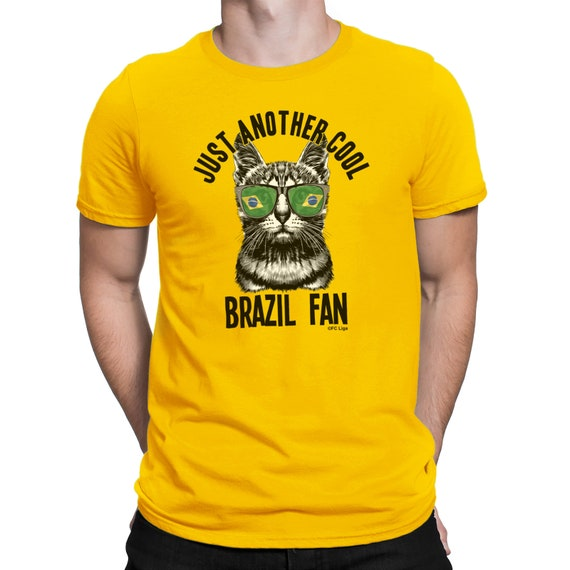f7f289143 Mens T-Shirt Another Cool BRAZIL Fan Cat FOOTBALL World Cup