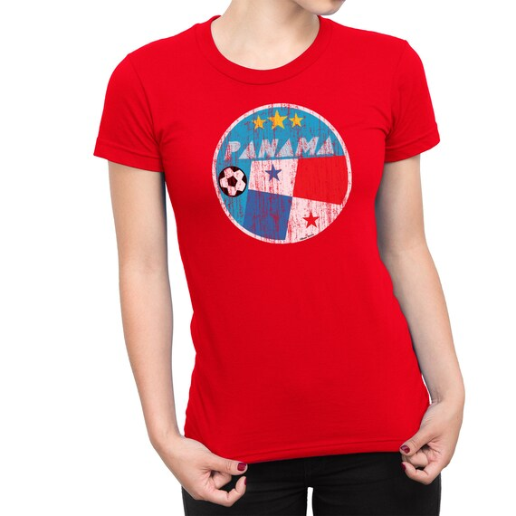 COSTA RICA LADIES T-Shirt FOOTBALL World Cup 2018 Womens Retro Square
