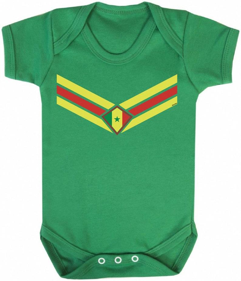 SENEGAL African Cup Of Nations 2019 BABYGROW Romper FOOTBALL V Team Emblem Strip