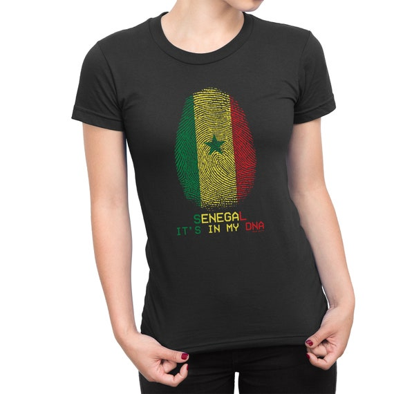 Womens SENEGAL FOOTBALL T-Shirt Africa Cup of Nations 2019 Country Flag Top Tee