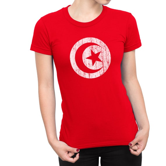 TUNISIA World Cup 2018 LADIES T-Shirt FOOTBALL New Style Retro