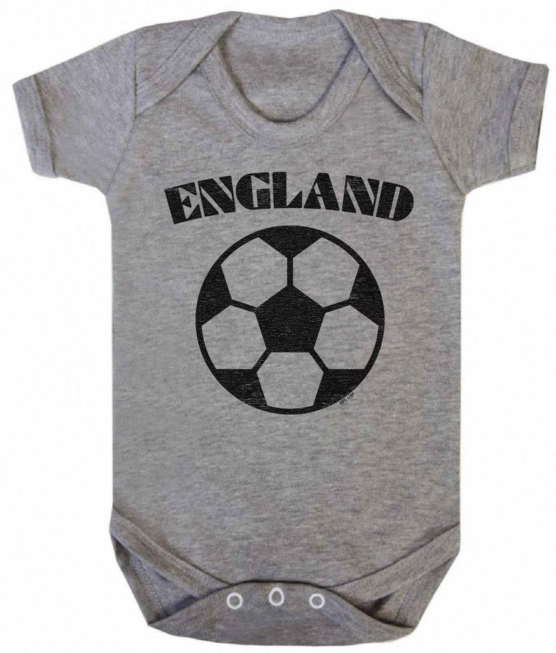 ENGLAND Boys Girls Football Unisex BABYGROW Vest World Cup 2019 Basic Retro