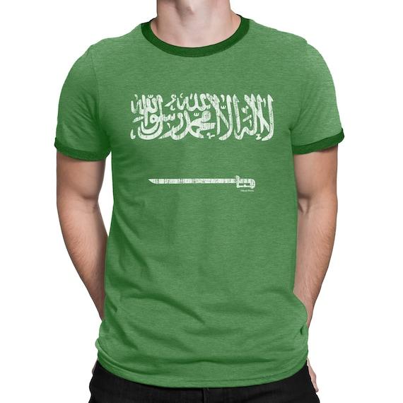 Welt Shirt Arabien 2018 Schwert T Mens Saudi Fußball Patriotischen Wm Retro Flagge Yb76gyf