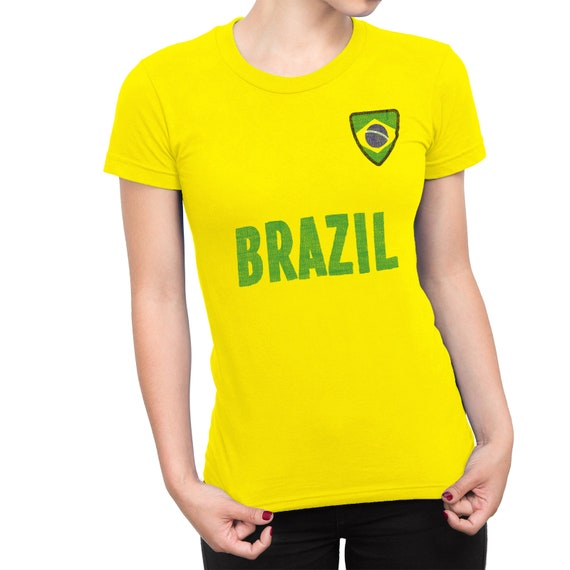 Sports Pays Shirt Copa Nom Womens Et T Brésil America Dames 2019 Football Badge fgbvYy67