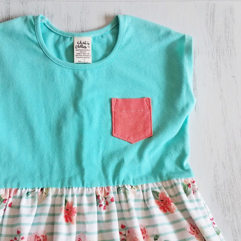 Girls Peplum Top Colorblock Stripe Tunic Girls Floral Shirt