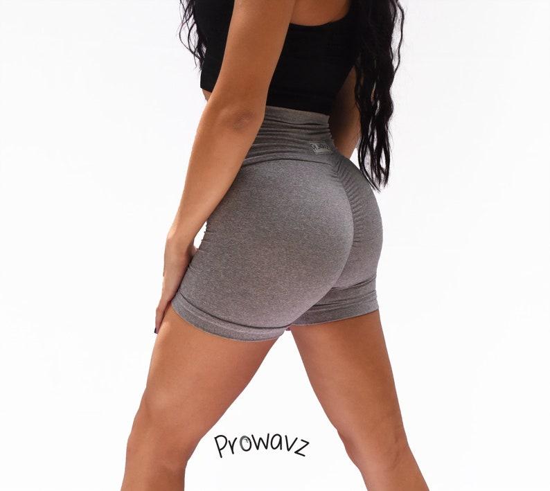 Women's steel butt scrunch shorts with a booty shaping effect prowavz