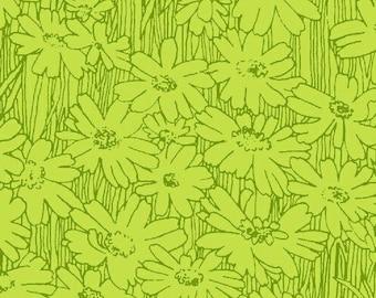 Petal Pushers - Tonal Daisies - Green - Windham Fabric - #33424
