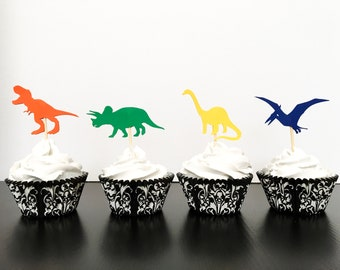 Learned Precut Dinosaur Brachiosaurus 12 Edible Cupcake Toppers Decorations Birthday Available In Various Designs And Specifications For Your Selection Other Baking Accessories