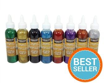 Glitter Glue, Assorted, Sargent Art 22-1808 8 Count 4-Ounce