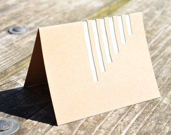 Abstract Line Cutout Card