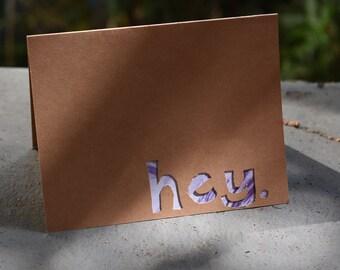 Hey. Card