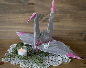 Giant Origami Paper Crane, Peace Crane