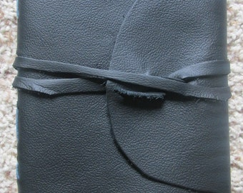 Handmade leather journal blue/blue
