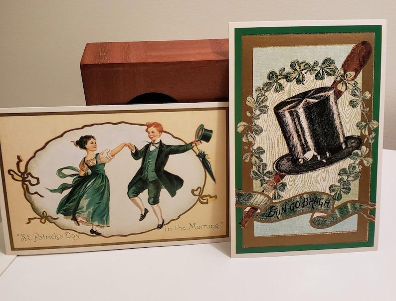 Nostalgic Cards Vintage Greeting Cards Patrick/'s Day Unused NOS Patrick/'s Day Decor Vintage Lillian Vernon Postcards Lot of 2 St St