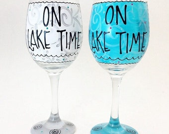 Hand Painted wine glasses by Coleen's Creations Glassware