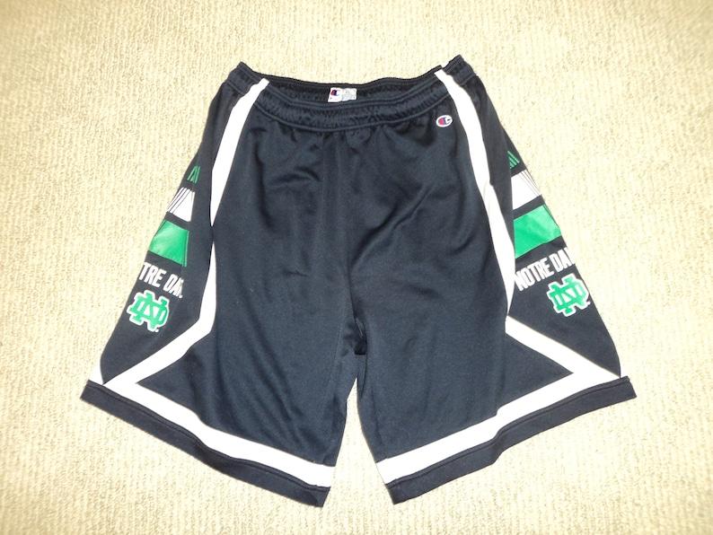 the best attitude f2731 7ef8d Vintage 90s Notre Dame Champion Basketball Shorts Size XL   Etsy