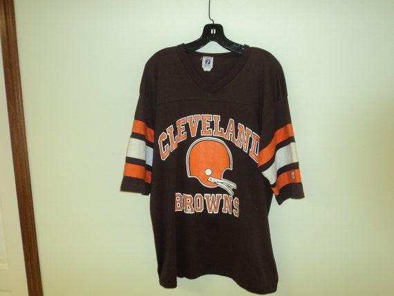 3c0052e7 Vintage 80s Cleveland Browns Jersey T Shirt Size XL   Etsy