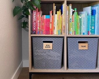 Bin Clip Labels, Basket Labels, Custom Bin Clips, Basket Tags, Organizing Labels, Basket Clips, Bin Tags Custom Labels for Home Organization