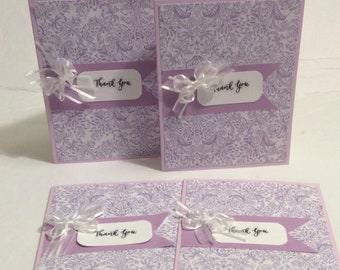 Set of 4 - Thank You Cards - Blank Inside