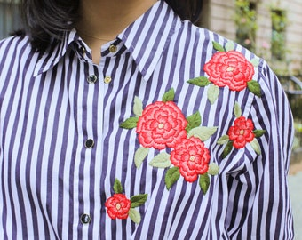 Hand Embroidered #upcylced Floral Blouse