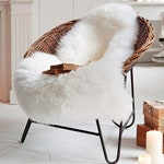 Ivory White Super Soft Fluffy Shaggy Faux Sheepskin Silky Rug for Bedroom Floor Sofa Chair Cover, Seat Pad, Area Carpet, 2ft x 3ft