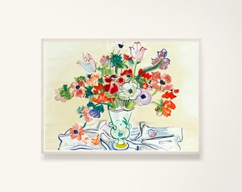 Raoul Dufy Abstract Flower Art Print Digital Download Raoul Dufy Flower Poster Flowers Art Print Raoul Dufy Vintage Poster