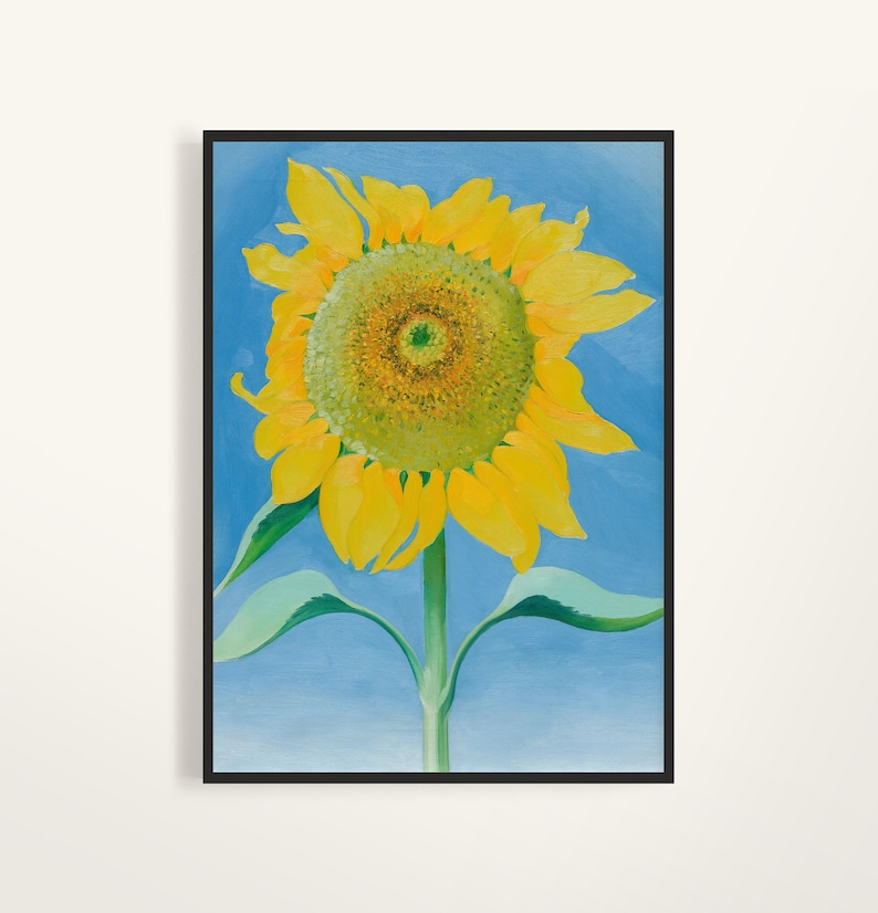 Georgia O'keeffe Print Sunflower okeeffe print | Etsy