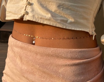 Dainty Layered Gold Filled Belly Chain