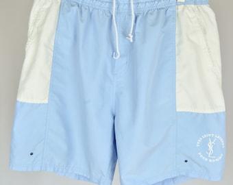 a7824e7620a87 Men's Yves Saint Laurent Vintage 90s Retro Big Logo Swim Shorts Size XXL