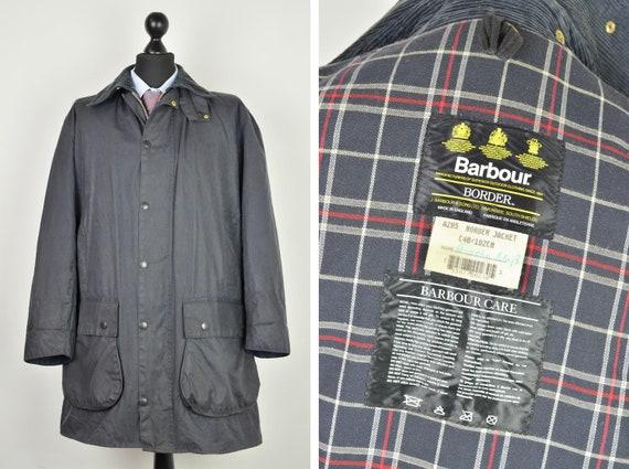 Men's Barbour A205 Border Vintage 90s Retro Navy H