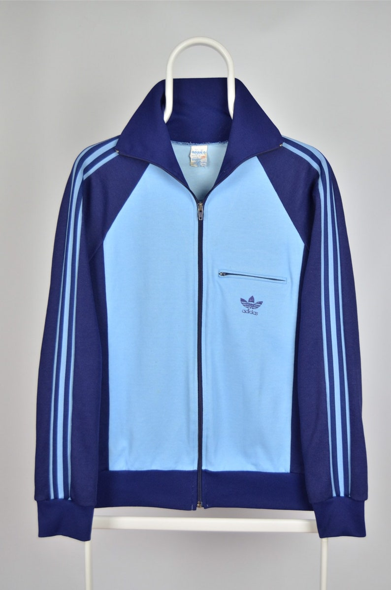 Men's RARE Adidas Originals Made in France Vintage 80s 90s Retro Track Suit Top Jacket Size M