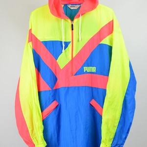Retro ski jas NEON Ski Snowboard jas Fluo roze jas.   Etsy