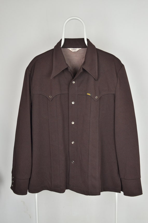 Men's Lee Riders Vintage 70s 80s Retro Brown Weste