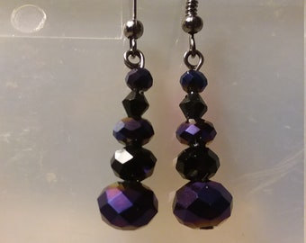 bead, stone earrings
