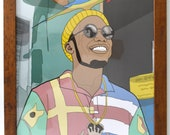 """Anderson Paak Print on Paper 16x20"""" FRAME INCLUDED"""
